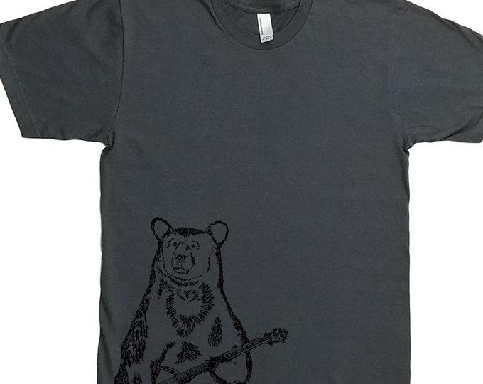 Man Funny Tshirt - Man Gift Birthday - Tshirts for Men - Gifts for Men - Banjo Gift - Banjo Shirt - Charcoal Printed Tee - Banjo T Shirts
