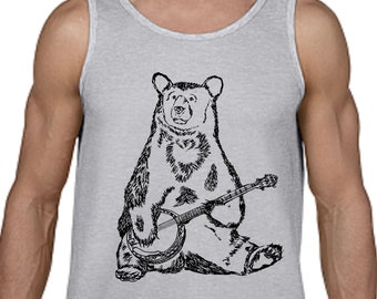Tanks Tops Men - Graphic Tank Top Men - Muscle Shirt - Workout Shirts for Men - Exercise Tank Tops Workout Tank Fitness Top - Mens Tank Top