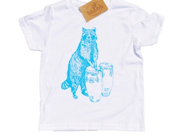 Toddler Boy Clothes - Boys T Shirts - Funny Toddler T Shirts - Blue Raccoon - Forest Animal T Shirt - Toddler Tees - Hipster Kids Clothes -