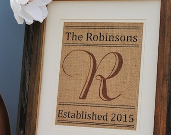 Personalized Gift For Friends | Personalized Burlap Wall Art | Gifts for Best Friends | Birthday Presents | Anniversary Presents