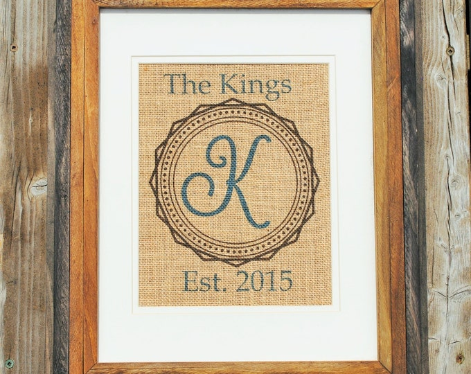 Personalized Wedding Art - Personalized Wedding Gift - Wedding Gifts for Couple - Burlap Wall Decor - Wall Art Rustic - Unique Wall Hanging