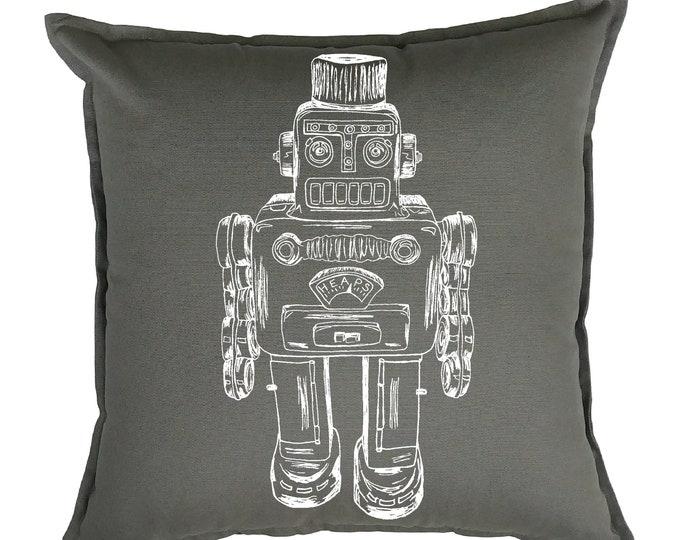 Throw Pillow Covers 20x20 - Robot Pillow - Sci Fi Decor - Sci Fi Pillows - Funny Pillows - Accent Pillows - Printed Pillows - Hipster Decor