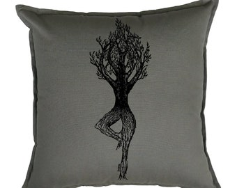 Accent Pillow Covers 20 x 20 - Decorative Pillows for Bed or Couch - Living Room Pillows - Couch Pillow Case - Sofa Pillows Case - Yoga Tree