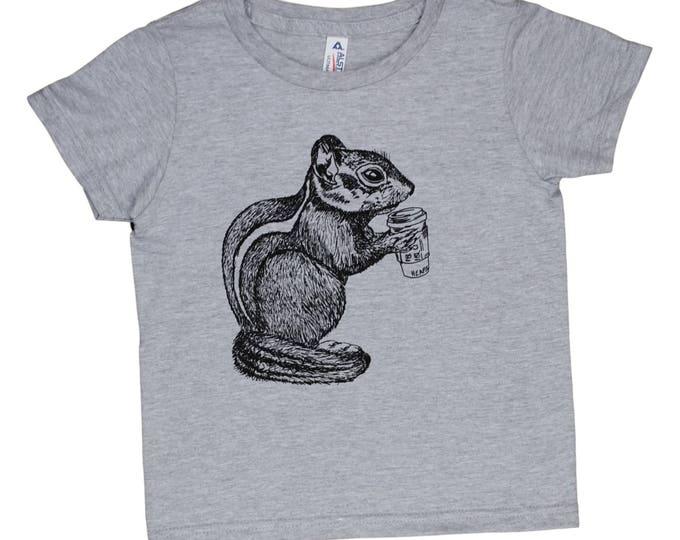 Funny Boys Tshirts - Chipmunk Tshirt - Funny Girl TShirts - Screen Printed Tshirt - Graphic Tshirt - Graphic Tees for Girls - Graphic Tees