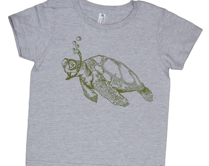 Boys TShirt - Turtle Tshirt - Girls T shirt - Toddler T shirt - Funny Kids Shirts - Funny Boys Tshirts - Printed Nautical Tee - Tee for Boys