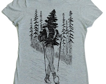 TShirts for Women - Regular Fit Tee - Hiking Shirt Women - Camping Clothes - Hiker Shirt - Trees Shirt - Nature Tshirt - Outdoors Forest Tee