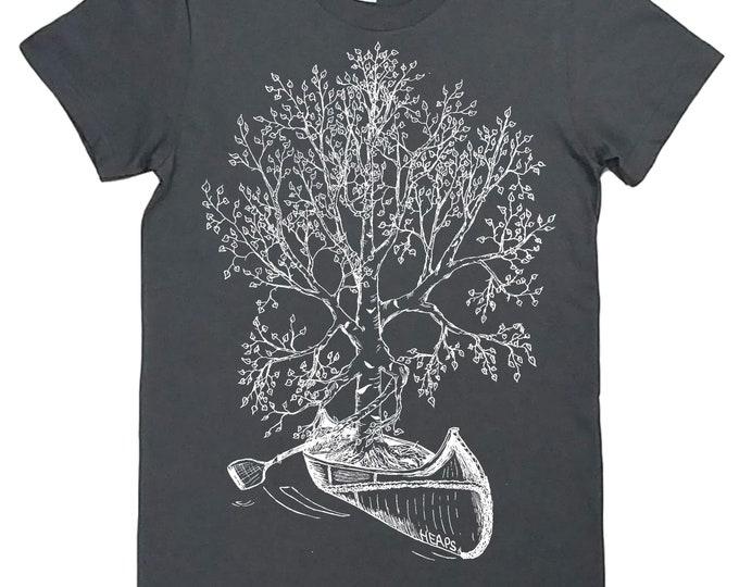 Funny Tshirts for Women | American Apparel | Canoe Tshirt | Womens Tree T Shirt | Cute Tshirts | Crew Neck | Nature T shirt | Tree Design