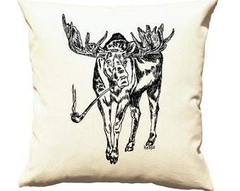 Accent Pillow Covers 20 x 20 - Living Room Pillows - Couch Pillow - Sofa Pillows Case - Decorative Pillow - Moose Pillows Bedroom - Pot