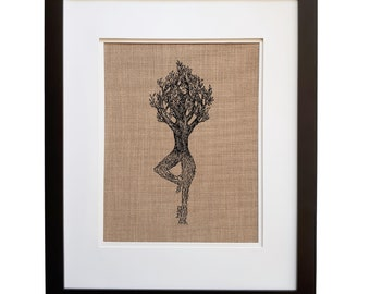 Yoda Wall Art Print - Unframed - Yoga Decor - Yoga Gift - Living Room Art - Kitchen Decor - House Warming Gift - Rustic Decor - Art Prints