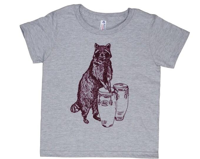 Funny Kids Tshirts - Raccoon Tshirt - Tshirts for Boys - Tshirts for Girls - Cool Tshirts - Fun Tshirts - Kiddies Tshirt - Kids Grey Tshirt