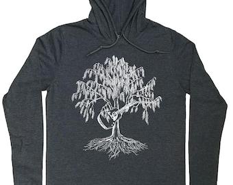 Mens Hoodies - Guitar Hoodie - Guitar Player Gift - Willow Tree - Musician Gift - Musician T Shirt - Guitar T Shirt - Graphic Hoodie