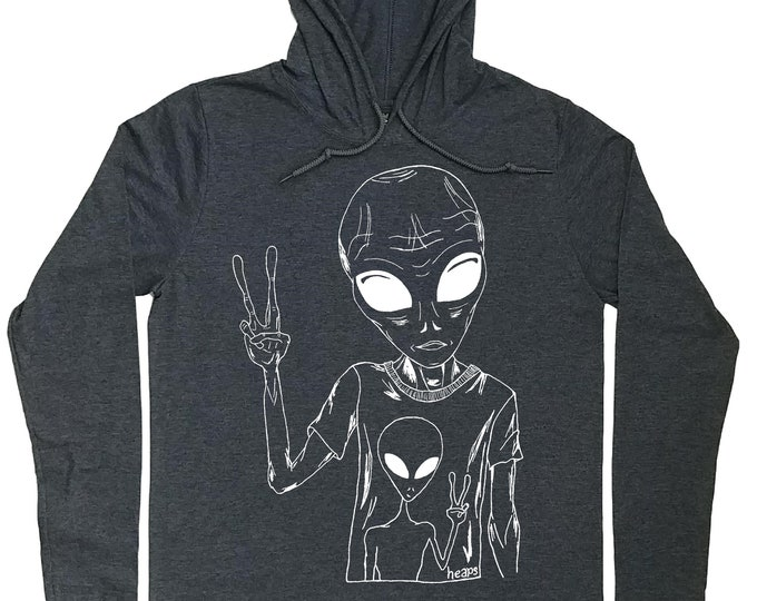 Hoodies for Men - Pullover Hoodie Men - Alien Hoodies - Sci Fi Hoodie - Space Hoodies - Graphic Hoodies - Hoodie T-shirt Men - Hooded Shirt