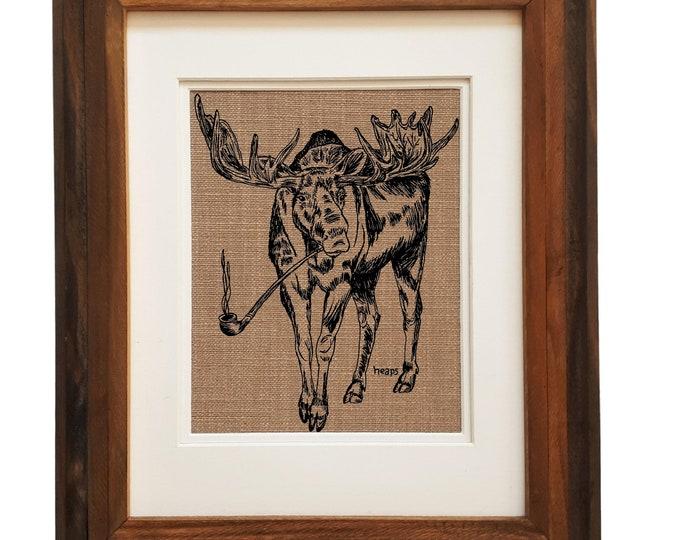 Wall Art Print - Unframed - Pot Gift - Weed Gift - Kitchen Print - Living Room Print - Funny Animal Prints - Funny Art Prints - Weed Prints