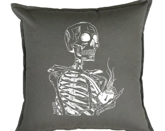 Skeleton Pillow - Throw Pillows 20 x 20 - Toss Pillows - Accent Pillows - Square Pillow Cover - Pillow Slip Covers - Couch Pillow Case
