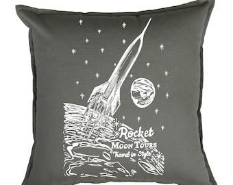 Throw Pillow Covers 20x20 - Sci Fi Outer Space Decor - Toss Pillow Covers - Funny Pillows - Living Room Pillows - Sofa Pillows - Gray Pillow