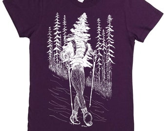 Woman TShirt - Fashion Tshirts - Forest Tshirt - Hiking Tshirt - Take a Hike - Women Graphic Tee - Backpacking T-shirt - Hipster Clothing
