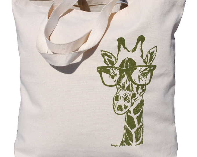 Animal Tote Bag - Market Tote Bag - Large Tote Bag - Beach Tote Bag - Grocery Tote - Travel Tote Bags - Unique Bridal Shower Gift - Giraffe