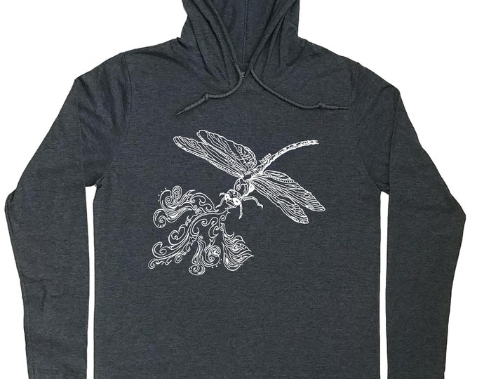 Hoodies for Men - Dragonfly Hoodie - Dragonfly T Shirt - Nature Lover Gift - Pull Over Hoodies - Mens Hoodie - Hoody for Men - Funny Hoodie