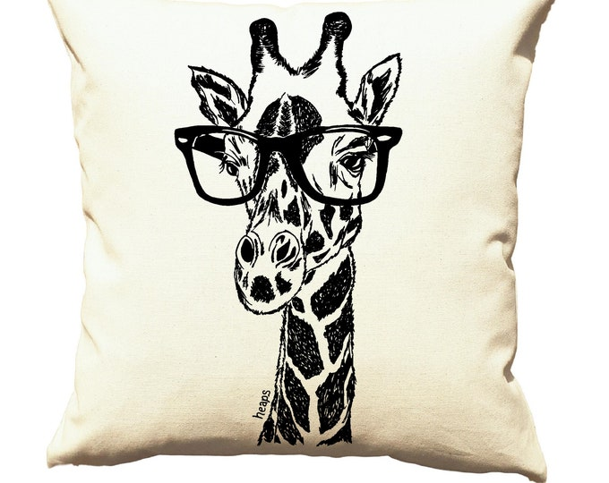 Throw Pillow Covers 20x20 - Gift New Home - Living Room - African Pillows - African Decor - Sofa Pillows - Decorative Pillows Giraffe Print