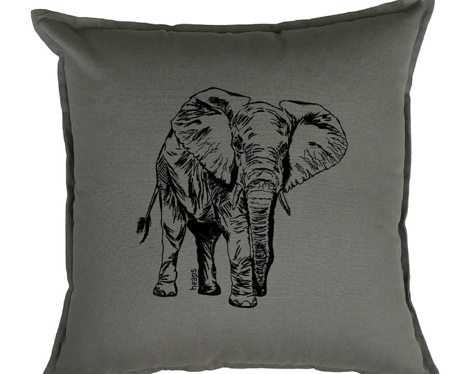 Pillow Covers 20 x 20 - Living Room Pillows - Animal Pillows - African Pillows - Elephant Pilllows - African Home Decor - Couch Pillow Case