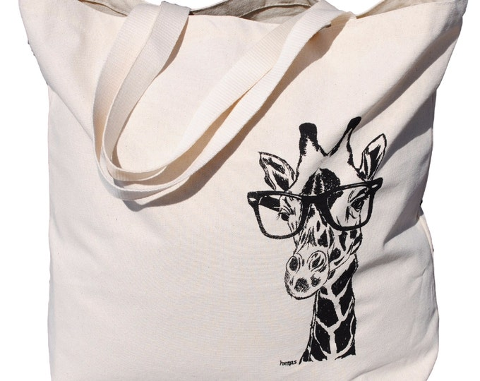 Animal Tote Bag - Reusable Shopping Bag - Beach Tote - Large Beach Bag - Beach Accessories - Giraffe Bag - African - Gift Ideas for Mom