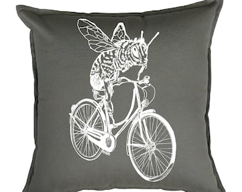 Throw Pillows - Gift Ideas for Friends - Toss Pillows - Accent Pillows - Square Pillow - Slip Covers - Couch Pillow - Bee Pillow - Funny
