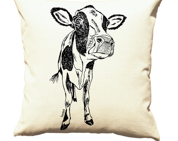 Throw Pillow Covers 20x20 - Cow Pillows - Farmhouse Pillows - Cushion Cover - Country Pillows - Cow Gifts - Bedroom Pillows - Sofa Pillows
