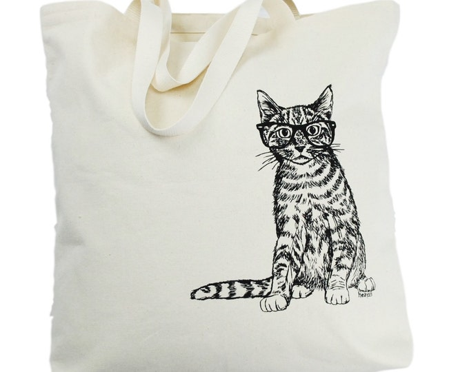 Animal Tote Bag - Cat Canvas Tote Bag - Reusable Shopping Bag - Beach Tote - Large Beach Bag - Beach Accessories - Gift Ideas for Mom