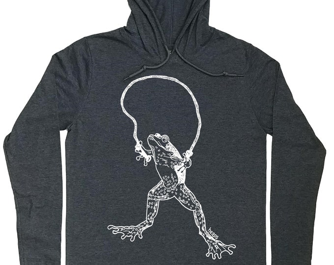 Mens Hoodies - Frog Hoodie - Pull Over Hoodies - Funny Frog Shirt - Hoodie Tshirt Men - Hoodie for Boyfriend - Hooded Tshirt Men - Funny Tee