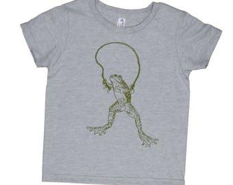 Funny Boys Tshirts - Frog Tshirt - Funny Girl T Shirts - Screen Printed Tshirt - Graphic Tshirt - Graphic Tees for Girls - Boys Graphic Tees