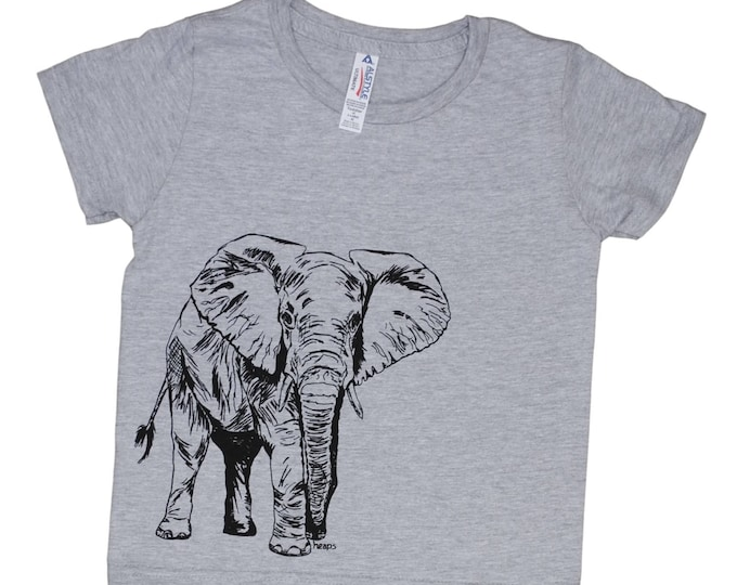 Elephant Toddler Tshirt - Funny Kids Shirts - Boys TShirt - Girls Tshirt - Hipster Kids Tshirt - Funny Boys Tshirts - Kids Animal Tshirts
