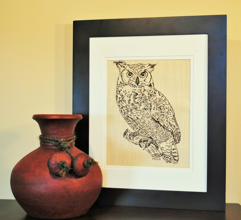 Owl Print - Wall Decor Art - Animal Wall Decor -Wilderness Animal ...