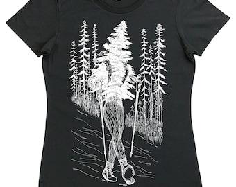 Womens T Shirt - Regular Fit Tee - Hiking Shirt Women - Camping Clothes - Hiker Shirt - Trees Shirt - Nature Tshirt - Outdoors Forest Tee