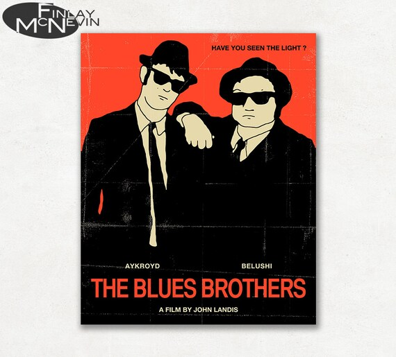 Blues Brothers 1980 Movie Poster Multi Size Canvas Wall Art 80s Film Print