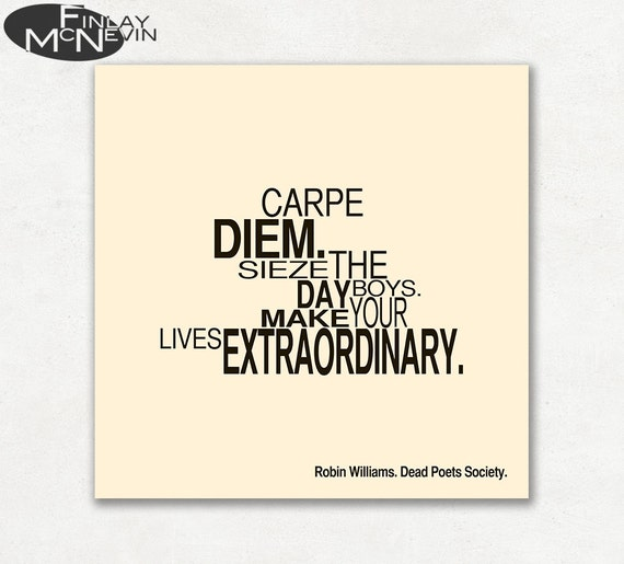 Dead poets society movie quote photographic paper poster etsy image 0 reheart Choice Image