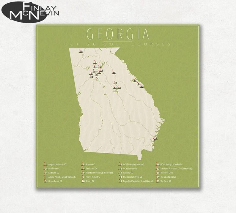 GEORGIA GOLF COURSES, Georgia Map Featuring the Top 20 Golf Courses, on trout fishing in georgia map, hunting areas in georgia map, home in georgia map, dams in georgia map, hiking in georgia map, rv campgrounds in georgia map, coffee shops in georgia map, covered bridges in georgia map, civil war forts in georgia map, historic sites in georgia map, parks in georgia map, casinos in georgia map, gold mines in georgia map, trout streams in georgia map, universities in georgia map, hotels in georgia map, beaches in georgia map, highways in georgia map, hospitals in georgia map, major airports in georgia map,