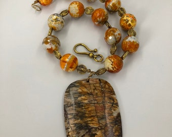 Rare and beautiful bumblebee jasper makes a real statement
