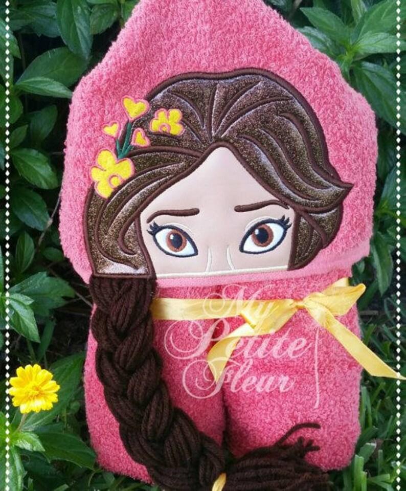 89bc7626e446c Elena Elena of AvalorLatina Princess Hooded Character Towel   Etsy
