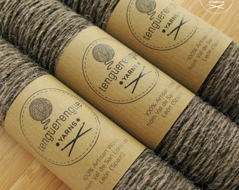 Artisan undyed wool. Natural soft brown