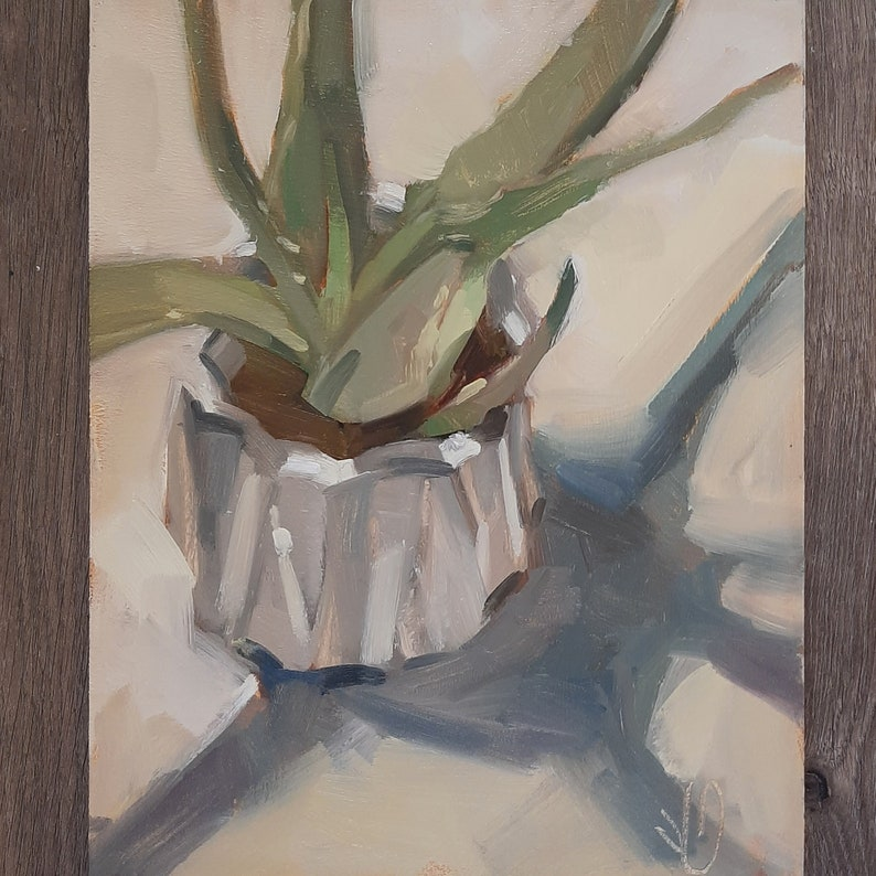 Aloe Original Oil Painting