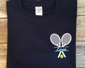 hot sale online 3783a c8f73 Kids Personalized Long Sleeve Tennis Shirt