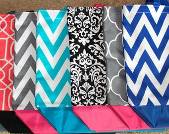 Set of 9 Tote Bags, Set of 9 Bridesmaid Monogrammed Tote Bag, 9 Bridesmaid Gift, Set of 9 Monogrammed Totes