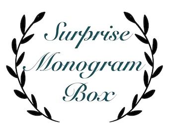 Monogram Surprise Box, Monogram Surprise Box, Monogram Mystery Box