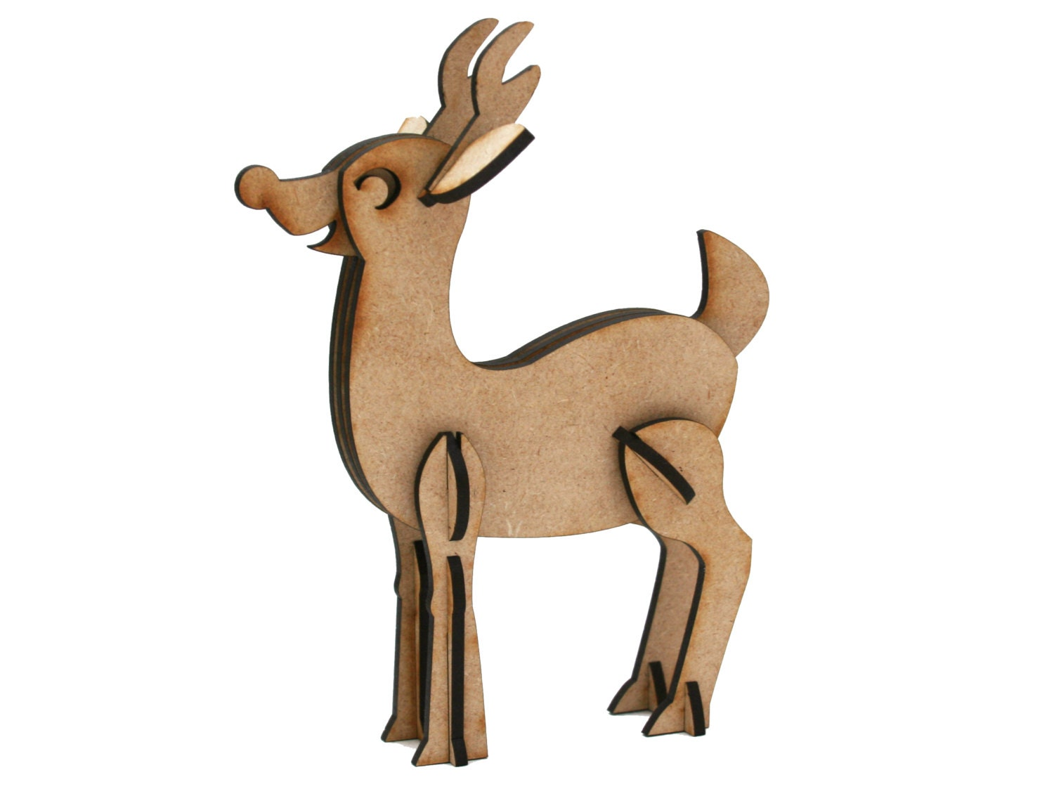 Laser Cut Wood Reindeer Puzzle Toy Christmas Decoration Great For The Holidays