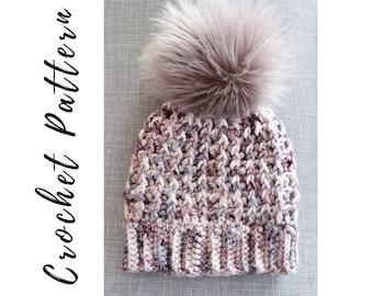 Crochet Hat Pattern, The Blizzard Hat Crochet Pattern, Instant PDF Download
