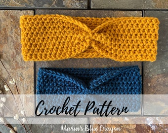 Simple Crochet Ear Warmer Pattern, Baby-Adult Sizing, Instant PDF Download