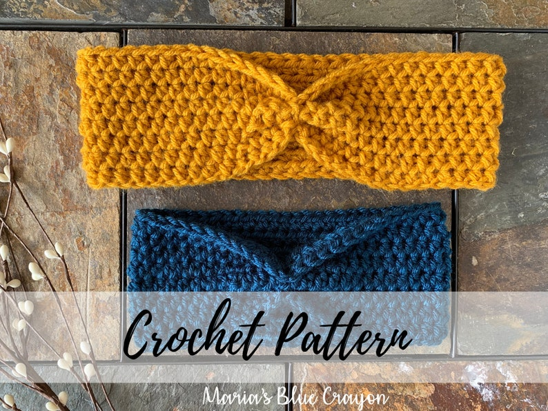 Simple Crochet Ear Warmer Pattern Baby-Adult Sizing Instant image 0