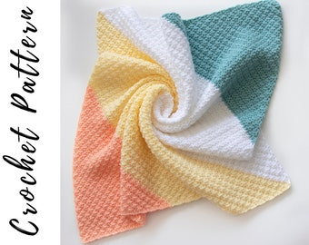 Crochet C2C Silt Blanket Pattern, PDF Crochet Pattern Download, Crochet Baby Blanket Pattern