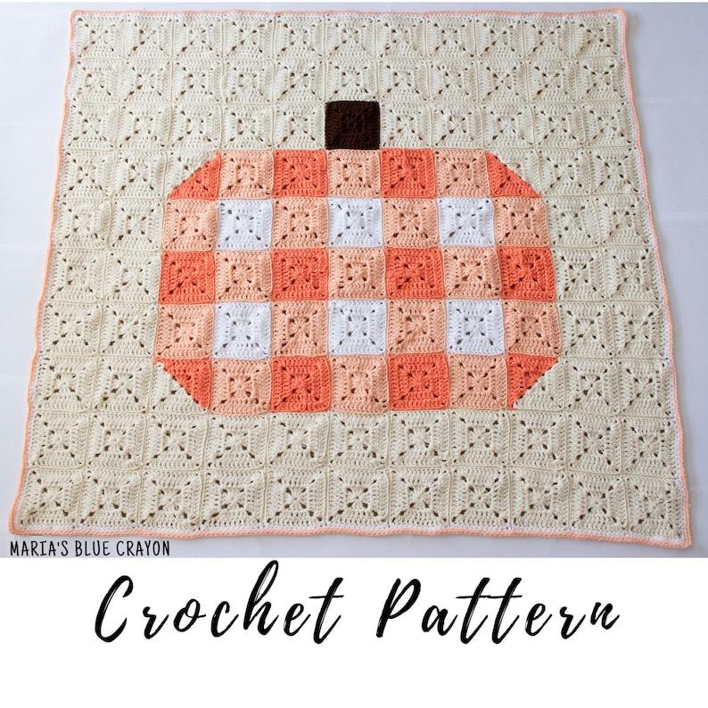 Crochet Gingham Pumpkin Blanket Pattern Crochet Pumpkin image 0