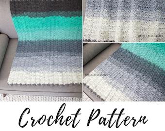 Crochet Mandala Yarn Blanket Pattern, PDF Crochet Pattern Download, Crochet Baby Blanket Pattern, Throw Blanket